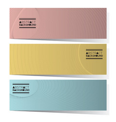 Set of three abstract horizontal banners vector