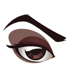sexy female eye vector image