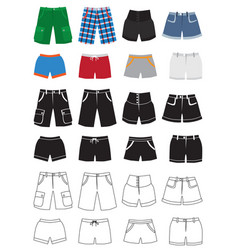 Shorts fashion icons vector