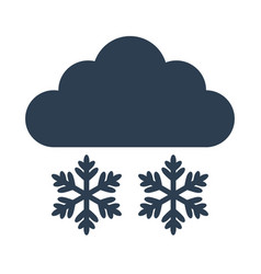 snow icon on white background vector image