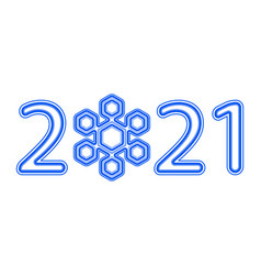 Snowflake 2021 number vector