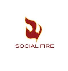 social fire concept vector image