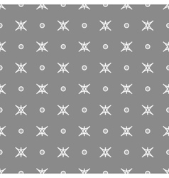 Star and polka dot geometric seamless pattern 30 vector image