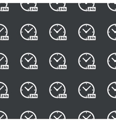 Straight black 24h workhours pattern vector