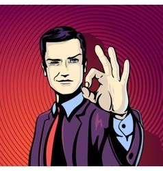 successful businessman vector image