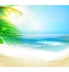 Summer Beach Wallpaper vector image