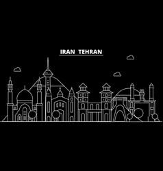 Tehran silhouette skyline iran - tehran vector