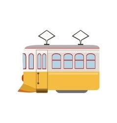Tram Public Transportation Portuguese Famous vector image