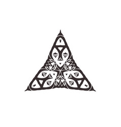 triangular ornament set vector image