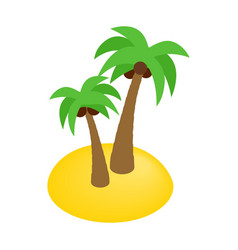 two palms isometric 3d icon vector image