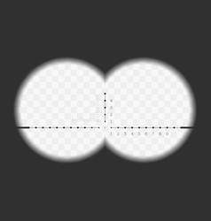 View from binoculars vector