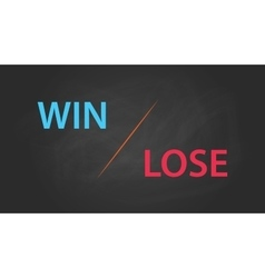 win or lose solution concept written on the text vector image