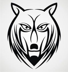 Wolf Face Tattoo Design vector image