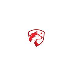 wolf head logo icon vector image