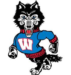 Wolf logo mascot vector