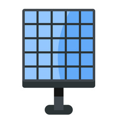 electric solar panel icon isolated vector image