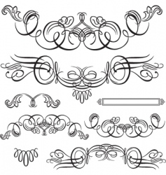 flourishes vector image vector image