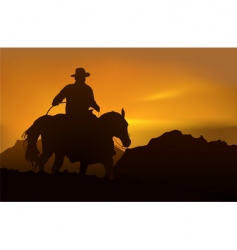 picturesque sunset vector image vector image