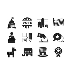 Political icons set vector image vector image