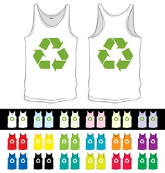 vector blank undershorts with recycling symbol of vector image