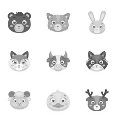 wild and domestic animals a set of pictures about vector image vector image