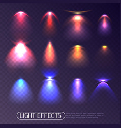 colored light effects transparent set vector image vector image