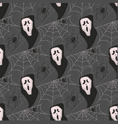 halloween seamless pattern background vector image vector image