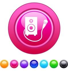 Karaoke circle button vector image vector image