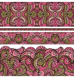 Abstract ethnic pattern seamless borderCute vector image vector image