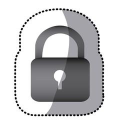 grayscale lock close icon vector image