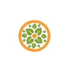 Isolated abstract round shape natural logo green vector