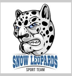snow leopard mascot vector image