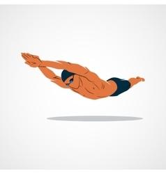 Swimming Logo sport vector image