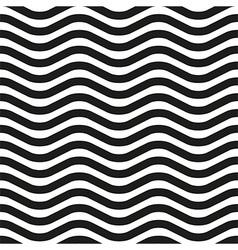 Wavy line zebra seamless pattern vector image vector image