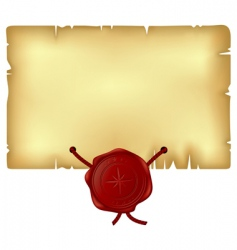wax seal vector image