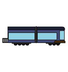 blue train wagon rail vector image