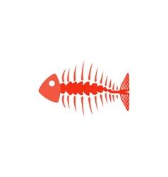 Fishbone Icon vector image vector image