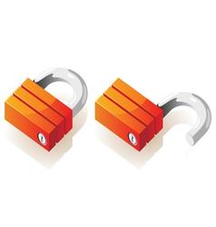 Isometric icons of locks vector image