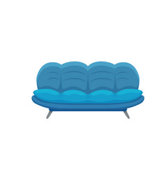 sofa and couches colorful cartoon vector image