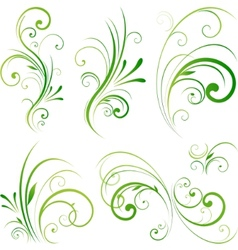 spring floral decorative swirls vector image vector image