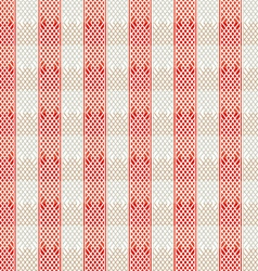 vintage red lines seamless pattern vector image