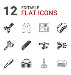 12 scissors icons vector