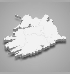 3d isometric map munster is a province vector