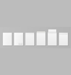 3d realistic white paper blank envelope vector image