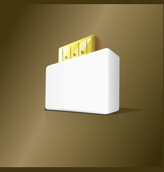 3d stylish usb box flash drive vector image
