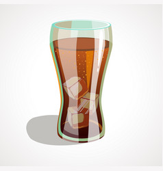 a glass of cola vector image