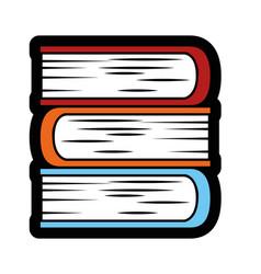 Academic books icon vector