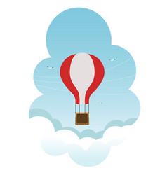 air balloon flying in the sky vector image