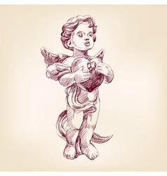 angel or cupid llustration vector image