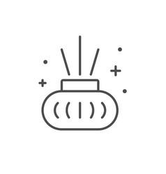 Aroma sticks line outline icon vector
